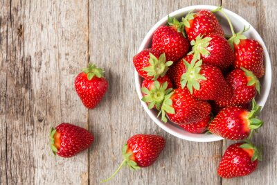 Väggdekor Röd jordgubbe i en skål