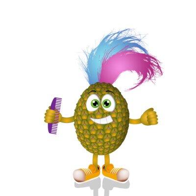 Väggdekor Rolig punk ananas
