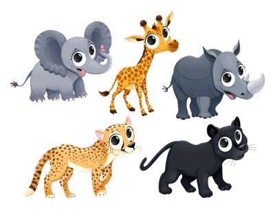 Väggdekor Roliga afrikanska djur