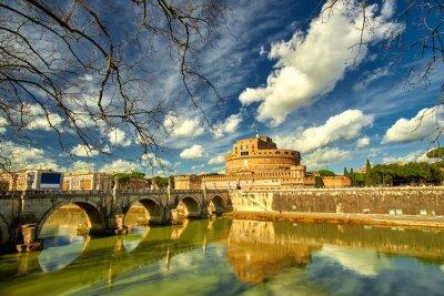 Väggdekor Rom - Castel saint Angelo, Italien