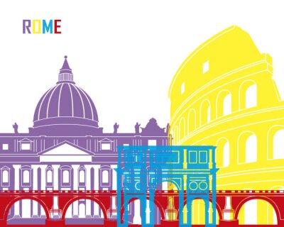 Väggdekor Rome horisont pop