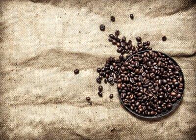 Väggdekor Rostat kaffe i pannan.