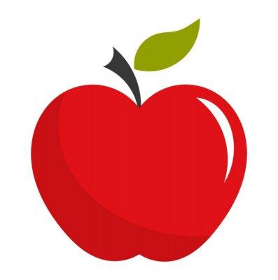 Väggdekor Rött äpple illustration