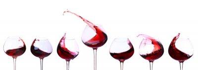 Väggdekor Rött vin isolerad på vitt