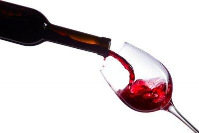 Väggdekor Rött vin på vit bakgrund