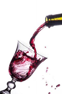 Väggdekor rött vin stänk