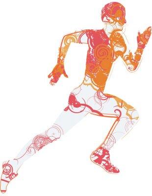 Väggdekor Running