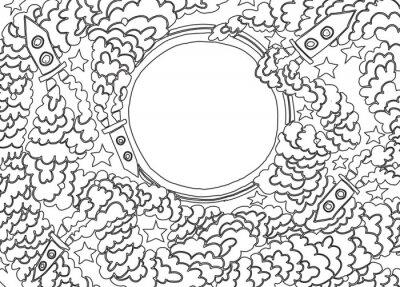 Väggdekor Runt månen (vektor bild)