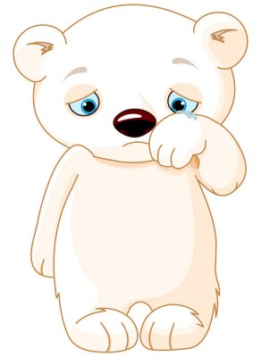 Väggdekor Sad Polar Bear