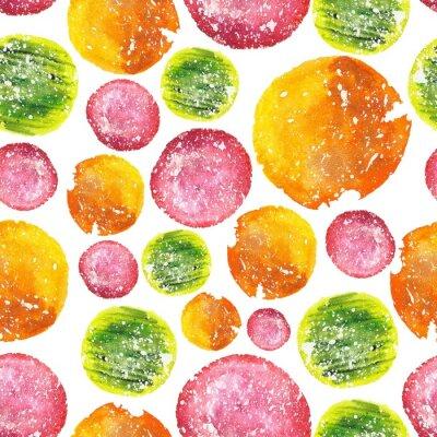 Väggdekor Saftig Bright vattenfärg Hålcirkel
