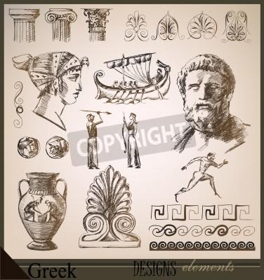 Väggdekor samling av designelement Ancient Rome