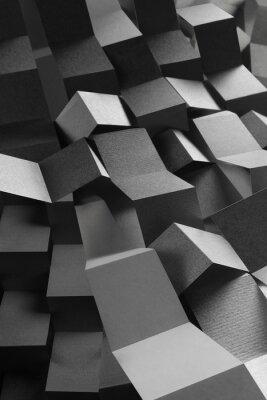 Väggdekor Sammanfattning sammansättning av papper ränder, geometrisk bakgrund