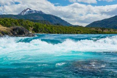 Väggdekor Sammanflödet av Baker floden och Neff flod, Chile