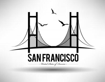 Väggdekor San Francisco överbryggar