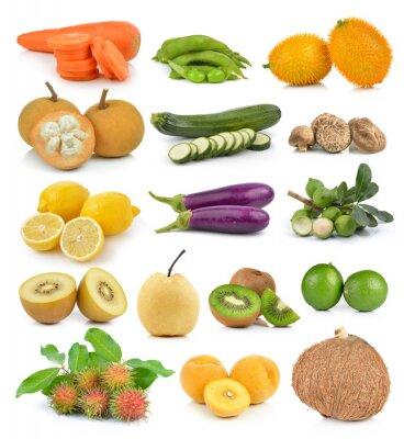 Väggdekor Santol, morötter, ärtor, champinjoner, zucchini, citron macadamia, coc