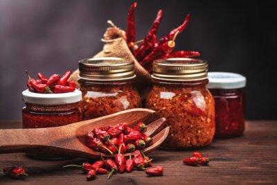 Väggdekor sås chili i glas