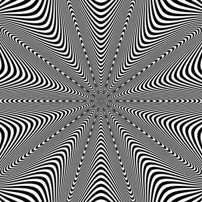 Väggdekor Satsa Art Illustration för din design. Optisk illusion. Abstrakt bakgrund. Används för kort, inbjudan, tapeter, mönsterfyllningar, webbsidor element och etc.