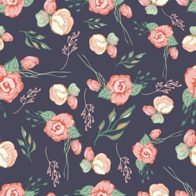 Väggdekor Seamless färgrik blommönster element 4