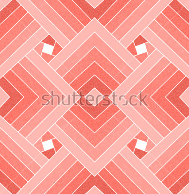 Väggdekor Seamless geometrisk levande korall kvadratmönster