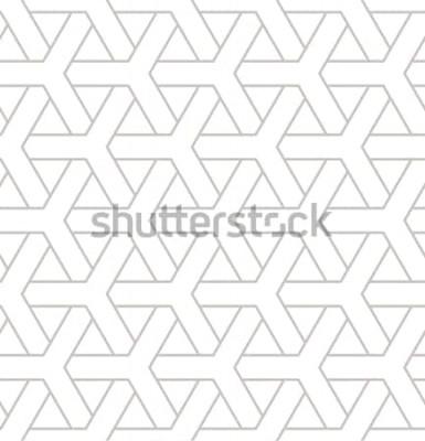 Väggdekor Seamless geometriska mönster. Geometriskt enkelt tryck med trippelelement. Vector upprepande konsistens. Modern hipsterprov. Minimalistisk upprepande bakgrund.