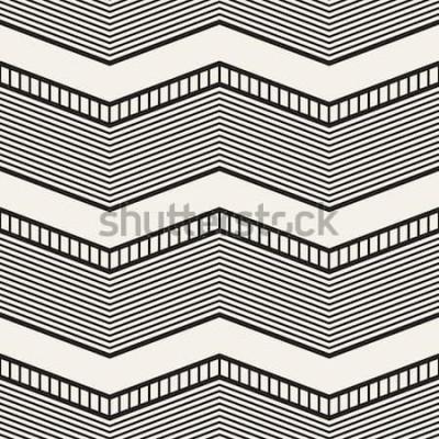 Väggdekor Seamless geometriska mönster. Sicksackband. Vector grafisk konsistens