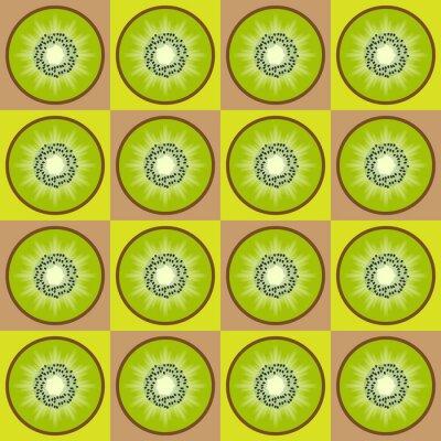 Väggdekor Seamless kiwi mönster
