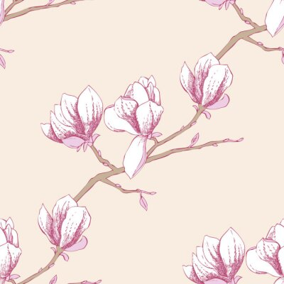 Väggdekor Seamless magnolia_3-03