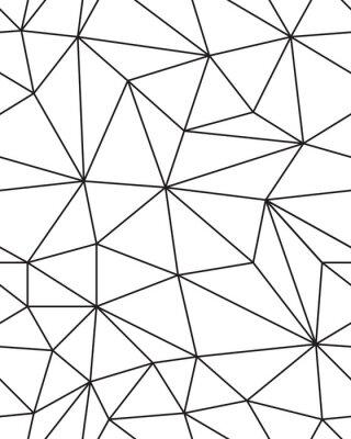 Väggdekor Seamless mönster av geometriska mesh textur