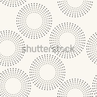 Väggdekor Seamless mönster med prickade cirklar. Vector upprepande konsistens. Snygg bakgrund