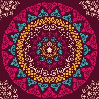 Väggdekor Seamless mönster. Tappning dekorativa element