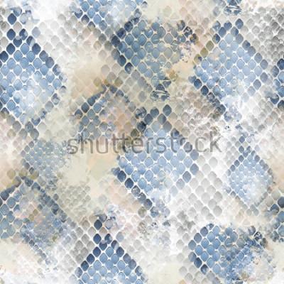 Väggdekor Seamless mönster vild design. Snakeskin bakgrund med akvarell effekt. Textiltryck för sängkläder, jacka, paketdesign, tyg och modekoncept