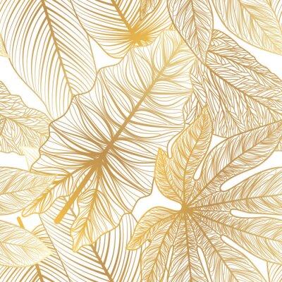 Väggdekor Seamless pattern with tropical leaf palm . Vector illustration.