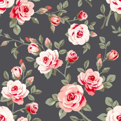Väggdekor Seamless rosa rosor