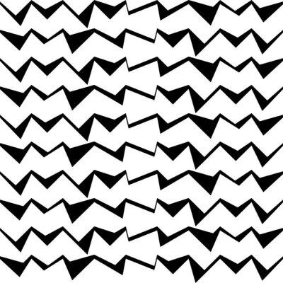 Väggdekor Seamless svart och vit dekorativ vektor bakgrund med abstrakta geometriska mönster