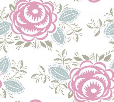 Väggdekor Seamless tappning rosor mönster