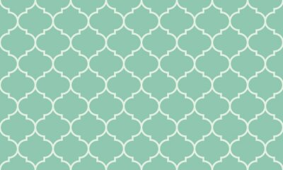 Väggdekor Seamless turkos bred marockanska mönster vektor