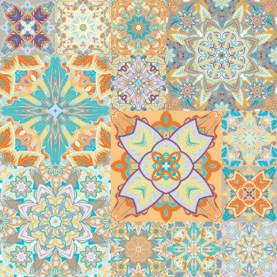 Väggdekor Seamless vektor mönster. Patchwork. Abstrakt illustration.