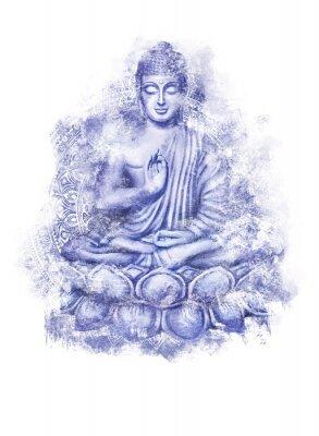Väggdekor Seated Buddha in a Lotus Pose