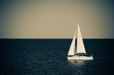 Väggdekor Segelboot auf hoher Se