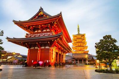 Väggdekor Senso-ji Temple på Asakusa område i Tokyo, Japan
