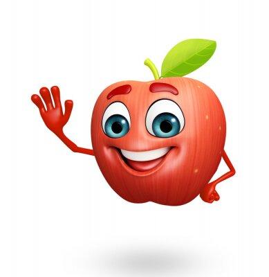 Väggdekor Seriefigur äpple frukt