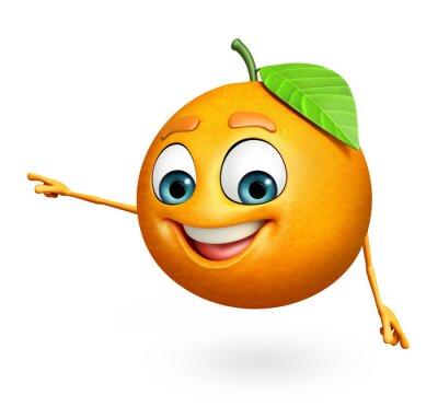 Väggdekor Seriefigur av apelsin