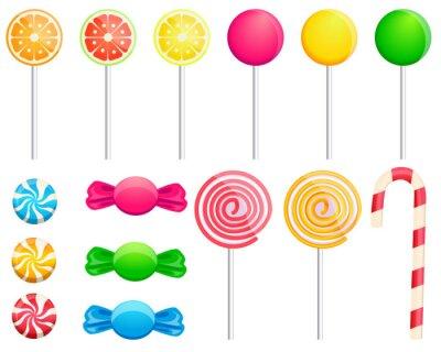Väggdekor set candies
