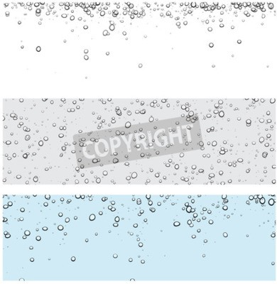 Väggdekor Set med bakgrunder med bubblor. Vektor vatten illustration.