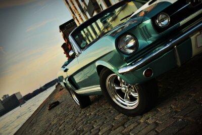 Väggdekor Shelby Kopia av Mustang 350 i den nedgående solen