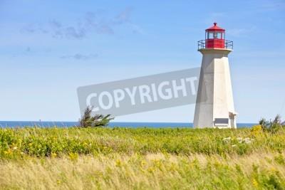 Väggdekor Ship Wreck pekar fyren på landsbygden Prince Edward Island, Kanada.