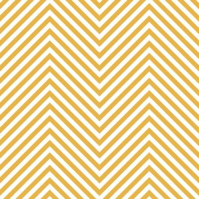 Väggdekor Sicksack gult mönster. Våg bakgrund i vektor