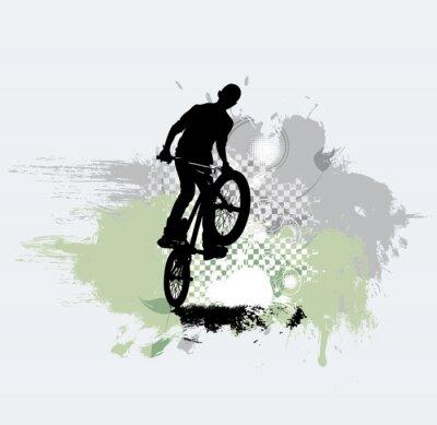 Väggdekor Silhouette av cykeltröja