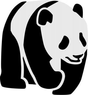Väggdekor Silhuetten av en panda