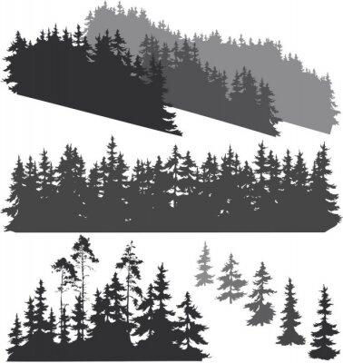 Väggdekor silhuetter av skogen